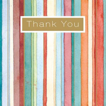 "THANK YOU CARD ""STRIPES DESIGN"" SQUARE SIZE 4.75 X 4.75 INCH By Lings EFTH108"